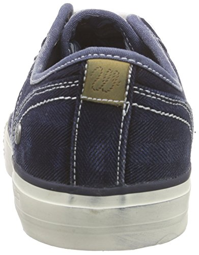Wrangler Starry Low Denim - Zapatillas Hombre Azul - Blau (284 BLUE/DENIM)