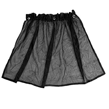 80 cm x 45 cm zuignap zwarte mesh gordijnen auto venster zon shade 2 pieces