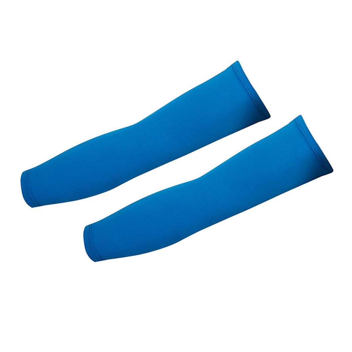 Aivtalk, coppia di scaldamuscoli, unisex, in elastan traspirante, monocolore, per Sport all' aria aperta, Basket corsa, ciclismo, Pesca, protezione solare UV