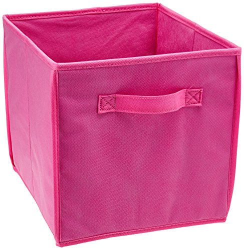 (Honey-Can-Do SFT-01762 Kids Storage Bins, Soft and Foldable Organizers, Pink)