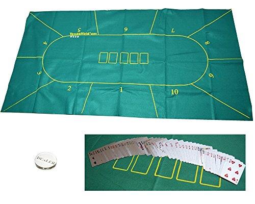 ポーカー テキサスホールデム ブラックジャック フェルト テーブル クロス フェルト (テキサスホールデム ディラーボタン トランプ付)