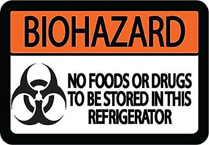 Amazon.com: Cartel gráfico de almacén Biohazard sin ...