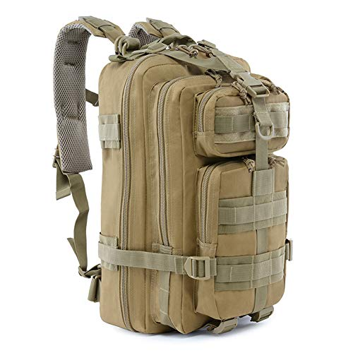 Roaring Fire Military Tactical Assault Backpack, EDC Outdoor Backpack, Trekking Backpack, 30L Army Rucksack Molle Bug Out Bag, Go Bag, Get Home Bag for EDC, Tactical Use, Camping, Hiking, Hunting (Best Get Home Bag Backpack)