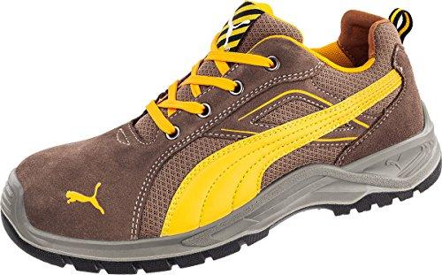 S1p De Puma Src Low Sécurité Basse Chaussure Omni jaune gris Brown Brun dtx0qt8F