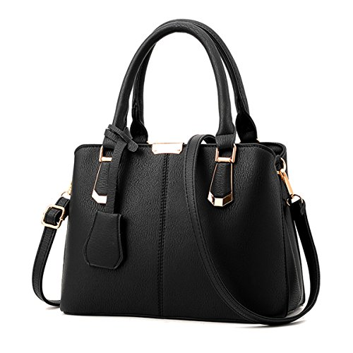 Nuova moda signore di mezza età borsa a tracolla messenger bag, nero