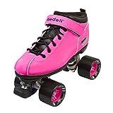 Riedell Skates - Dart - Quad Roller Speed Skates | Pink | Size 8
