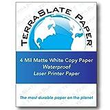 TerraSlate Paper 4 MIL 8.5'' x 11'' Waterproof Laser Printer/Copy Paper 1000 Sheets