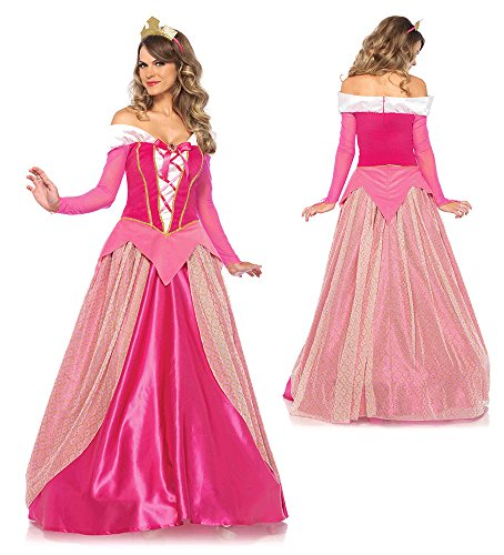 Disney Women's Princess Aurora Costume, Pink, Medium
