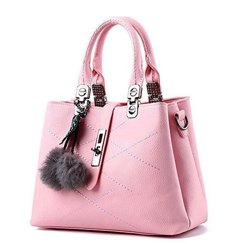 handbag New Bag PU body Totes Shopper Cross Handbag Strap Leather with Handle 1 Shoulder style Top Pink 2 Shoulder Ladies Blue qxWda7YAwq