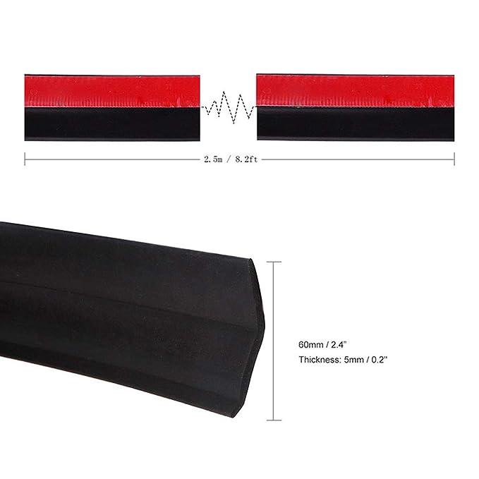 Tiras de ONEVER, de goma, universales y adhesivas, para pegar el parachoques del coche, de 2,5 m de largo y 60 mm de ancho: Amazon.es: Coche y moto