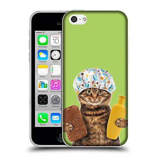 GoGoMobile Coque de Protection TPU Silicone Case pour // Q05610628 Chat bain inchworm // Apple iPhone 5C