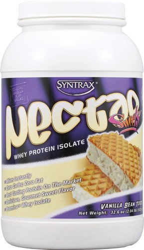 Syntrax Nectar Sweets Whey Protein Isolate Powder Vanilla Bean Torte -- 2.04 lbs - 3PC by Syntrax