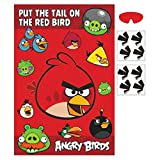 Fun Angry Birds Pin The Tail Birthday Party Game, Red