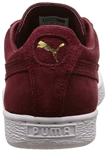 Puma Cabernet White Rouge Homme Baskets Classic Gold Suede Team Mode rPYn0rAx