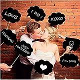 edealing(TM) 1SET 10 Pcs Photo Booth Prop DIY Bubble Speech Chalk Board Wedding Party Photobooth