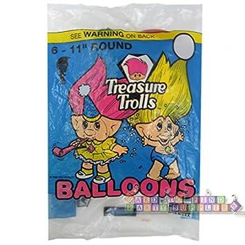 troll dolls vintage treasure trolls latex balloons 6ct amazon
