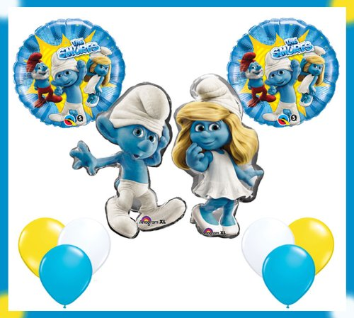 The Smurfs Happy Birthday Party Balloon Set
