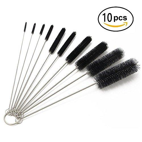 Bottle Cleaning Brushes, 8 Inch Nylon Tube Brush Set, Cleane