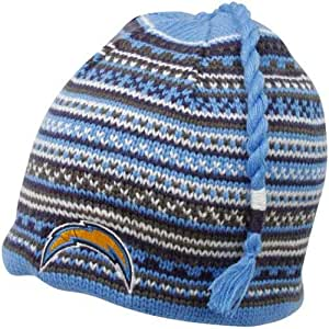 Amazon Com Reebok San Diego Chargers Tassle Knit Hat One