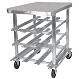 Winholt CR-54PT Mobile Can Dispensing Racks, Poly Top, Half Size, 27 1/2'' Width x 35'' Length x 35'' Height, Aluminum