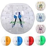 Ancheer Inflatable Bumper Bubble Soccer Ball Dia 4FT (1.2m) Human Knocker Body Zorb Ball Bubble (Transparent)