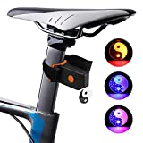 Baulody LED USB Rechargeable Bike Tail Light Bicycle Safety Cycling Warning Lamp Tai Chi (Black)