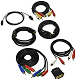 Pyle 7 Piece HDTV Audio System, Component Video Audio Cable Connection Kit for Plasma, DVD Player HDMI Cable, LCD LED DLP and Audio Players - HDMI to SVideo, SVideo Cable, Tousling and HDMI to DVI Adapter, Gold Plated (PHDMIKT1)