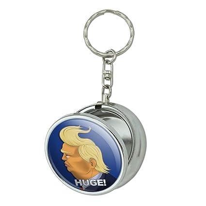 Enorme. Donald Trump caricatura con vientos que soplan pelo ...