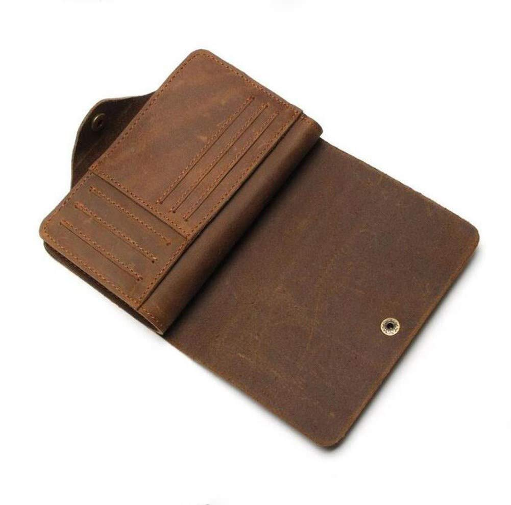 European and American Leather Zipper Buckle Wallet RcnryMens Short Wallet Brown Eighty Percent Off Multifunctional Soft Business Wallet