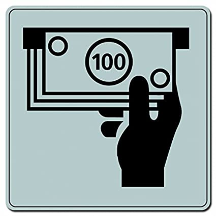 Novap – placa – Dispensador automático de billetes ISO 7001 – 200 x 200 mm rígida