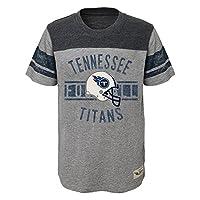 "NFL New York Titans Boys ""Lineage"" Short sleeve Slub Tee, Heather Grey, Medium (10-12)"