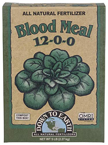 - Down to Earth Blood Meal Fertilizer Mix 12-0-0, 5 lb