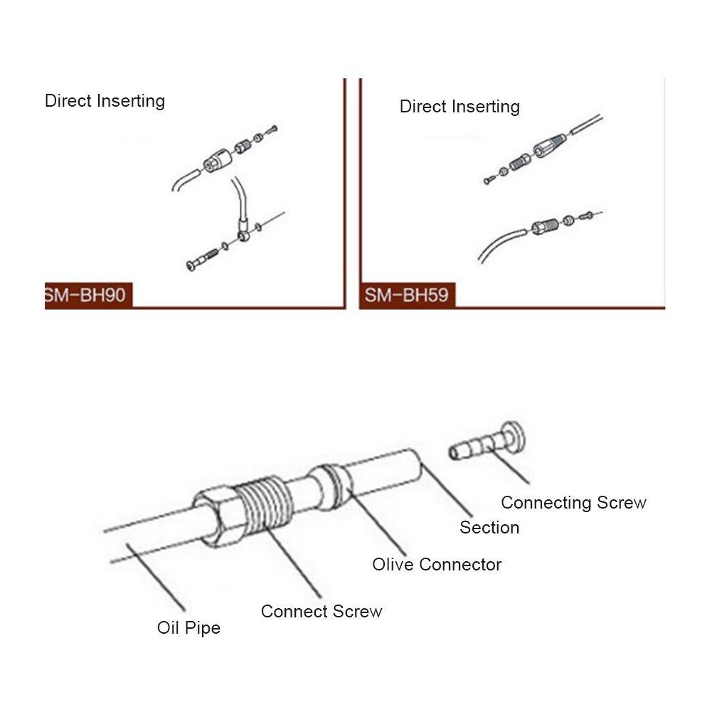 Alomejor Gub Bh90 Bh59 Set di Inserti per Olive E Connettori per Tubo Freno Idraulico Shimano