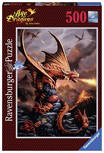 Ravensburger Anne Stockes: Fiery Dragon Jigsaw Puzzle (500 Piece)