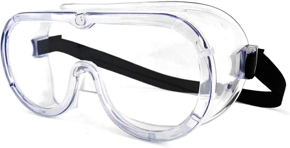 LMXDCS Gafas Seguridad Transparentes Envolventes Gafas Trabajo Protectoras Selladas Impacto Ocular sobre Gafas para Bricolaje Laboratorio Molienda Quirúrgico Doctor Enfermera Hospital, Etc.