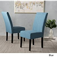 Percival Blue Fabric Dining Chair (Set of 2)