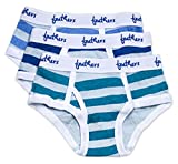 Feathers Boys Multi Stripe Snug Fit Tagless Briefs Underwear - 100% Cotton Super Soft Briefs (3/pack) ,4
