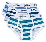 Feathers Boys Multi Stripe Snug Fit Tagless Briefs Underwear - 100% Cotton Super Soft Briefs (3/Pack)