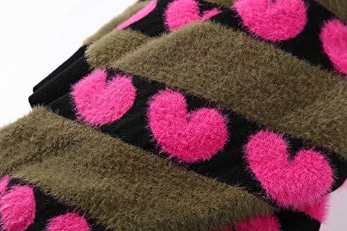 Dress Pull Rose Good Couleur S Paresseux Tricot Amour Mode Lâche Contraste Et Jacquard Femme Automne Hiver Manteau Cardigan Rose RHH6qdT