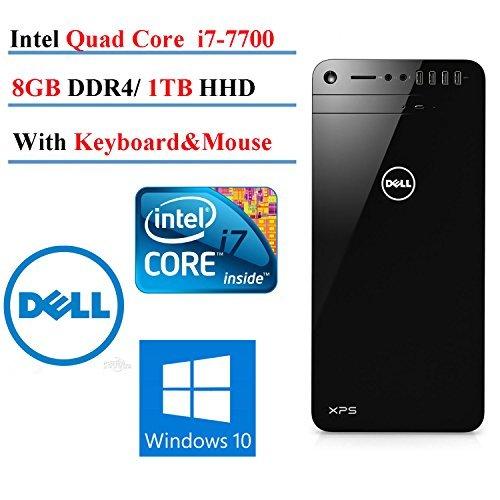 2017 Newest DELL XPS 8920 Desktop,Intel Core i7-7700 Quad-Core up to 4.2 GHz, 8GB DDR4 Memory, 1TB SATA Hard Drive, 2GB Nvidia GeForce GT 730, DVD Burner, Windows 10 (1TB HDD, 8GB RAM)