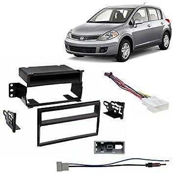 amazon com: fits nissan versa 2007-2011 multi din stereo harness radio  install dash kit: car electronics