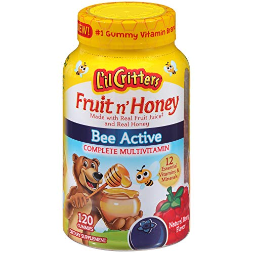 L'il Critters Fruit N' Honey Complete Multivitamin, 120 Count [120 Count]