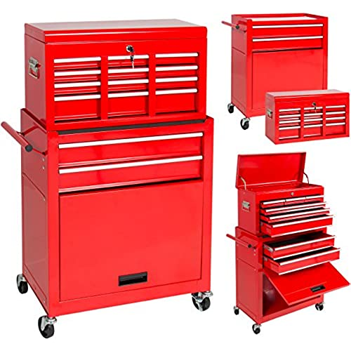 Buy Best Choice Products Portable Top Chest Rolling Tool Storage Box Cabinet Sliding Drawers