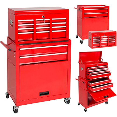 Portable Top Chest Rolling Tool Storage Box Cabinet Sliding Drawers ()