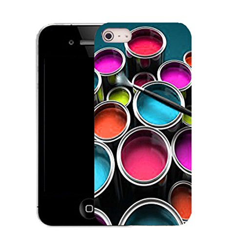 Mobile Case Mate IPhone 4s clip on Silicone Coque couverture case cover Pare-chocs + STYLET - paint bucket pattern (SILICON)