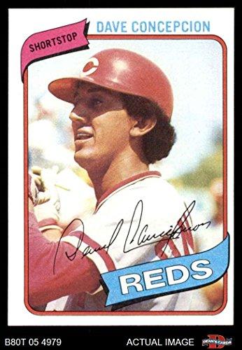 - 1980 Topps # 220 Dave Concepcion Cincinnati Reds (Baseball Card) Dean's Cards 7 - NM Reds