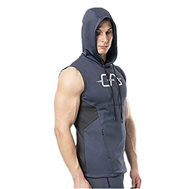 Camiseta con Capucha de Tirantes Deportes para Hombre, Tops ...