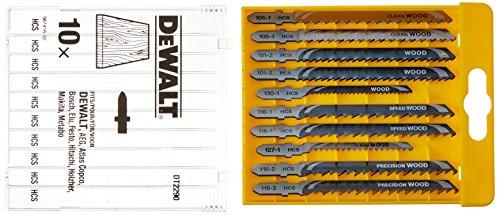 Dewalt DT2290-QZ Jigsaw Blade-Set for wood (10 Piece) (Dewalt Jigsaw Blade Set)