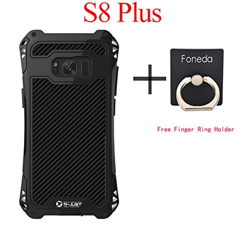 R-JUST Amira Powerful Life Shockproof Dirt Proof Case For Samsung Galaxy S8 Plus G9550 Case Cover Phone Cases Shell Skin Bag Without Gorilla Glass For Galaxy S8+ 6.2 Inch (Black)