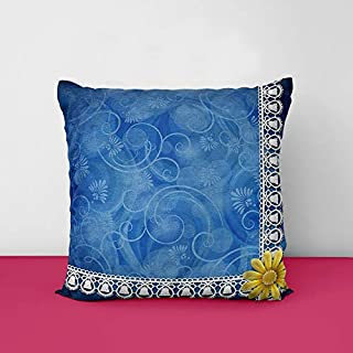 51RHZyk2E3L. SS320 Blue Designs Printed Square Cushion Cover